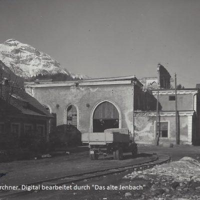 Hochofen zum Großteil abgetragen im Jahr 1940.