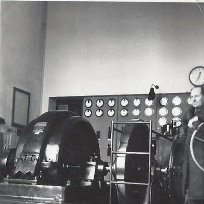 Maschinenhaus umgebaut 1939-40.