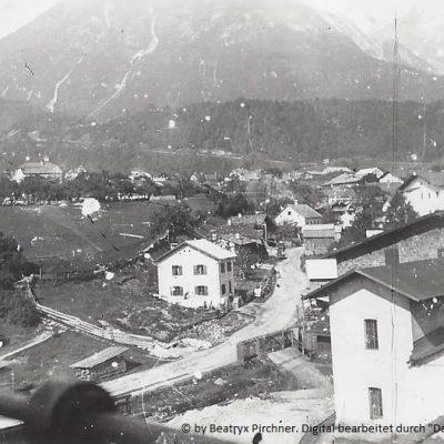 Altes Gebläsehaus mit Kohlenbarren, Aufnahme um 1908.