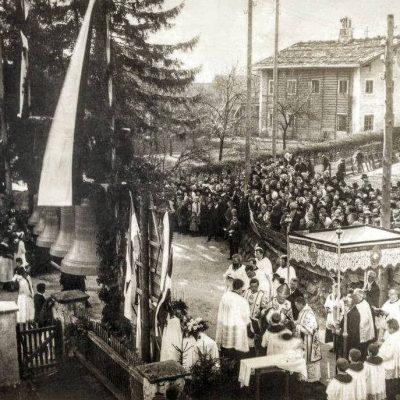 Glockenweihe in Jenbach. Jahr unbekannt.