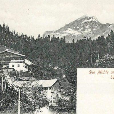 Die Mühle am Käsbach bei Jenbach. Datum: 13.8.1900