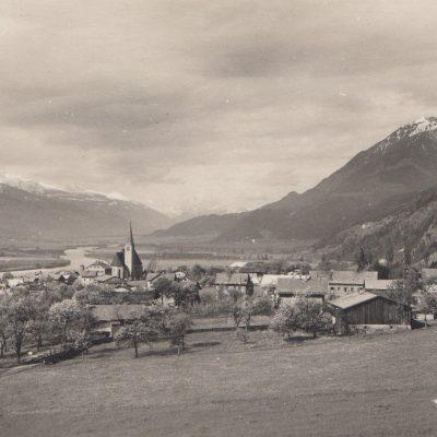 Ansicht auf Jenbach Richtung Schwaz im Jahr 1930.