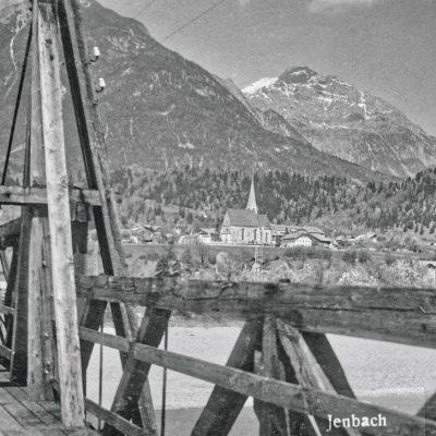 Der Innsteg Richtung Jenbach im Jahr 1929.
