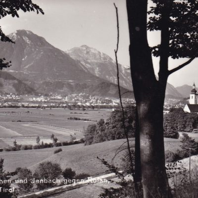 St. Margarethen und Jenbach gegen Rofan im Jahr 1950.