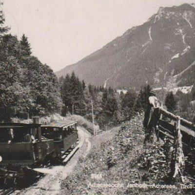 Die Achenseebahn im Jahr 1955.