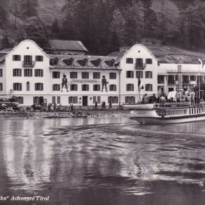 Hotel Scholastika im Jahr 1956.