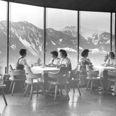 Das Restaurant Kanzelkehre im Winter 1959.