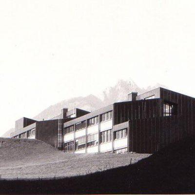Fertiger Bau im Jahr 1981.
