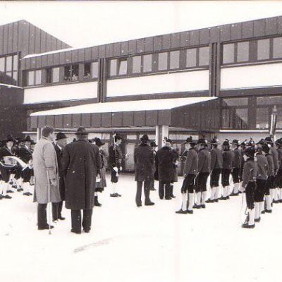 Einweihungsfeier mit Unterrichtsminister Sinowatz und LH Wallnöfer im Jahr 1981.