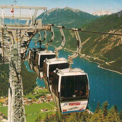 Die neue Karwendelbahn im Jahr 2001.