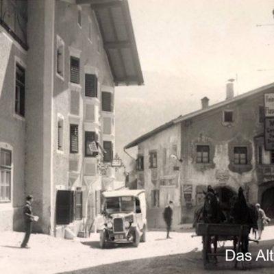 Mit feinen Wurstwaren und Flaschenbierhandel konnte man im alten Jenbach punkten. Bild von ca 1920.