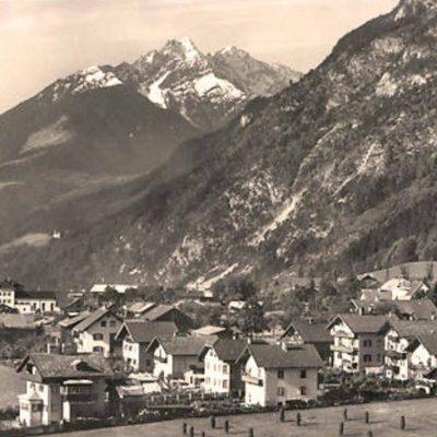 Seitliche Ansicht auf Jenbach im Jahr 1940