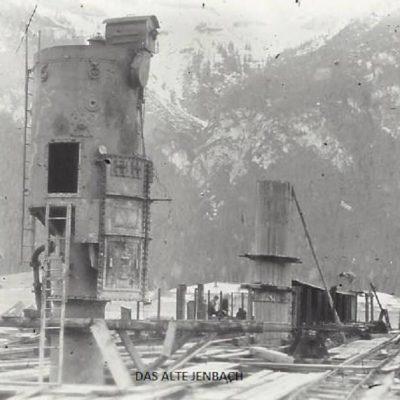 Bau des Achenseekraftwerkes im Jahr 1926