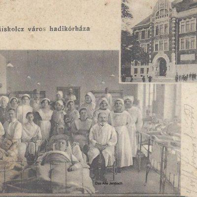 Verletzte Jenbacher im 1. Weltkrieg. Sie wurden in der Stadt Miskolc (Ungarn) behandelt.