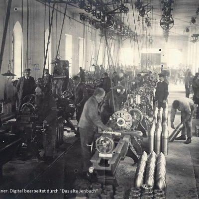 Geschossdreherei (jetzt sogenannte Halle 3), in ihr wurden 15cm Gussgranaten für den Ersten Weltkrieg gedreht.