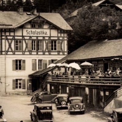 Das Hotel Scholastika am Achensee in den 50er Jahren.