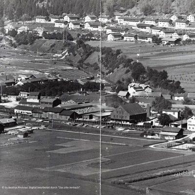 Luftaufnahme des Werkes.