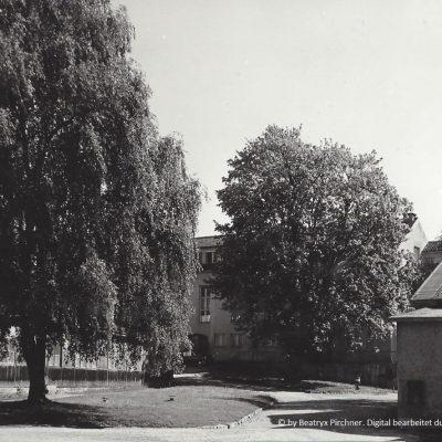 Ansicht des alten Konstruktionsbüros und der Lehrlingsdreherei.