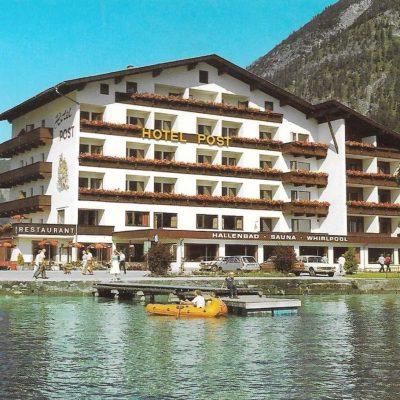 Das Hotel Post in Pertisau am Achensee in den 80er Jahren.