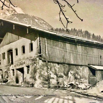 Der alte Bauernstadl an der Achenseestraße 66. Heute befindet sich dort die Ordination von Frau Dr. Ina Wimmer. Das Jahr ist leider nicht bekannt.