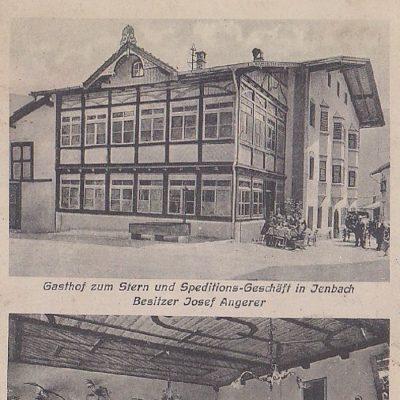 Gasthof zum Stern im Jahr 1916. Die Glasveranda wäre auch heute ein echter Blickfang.