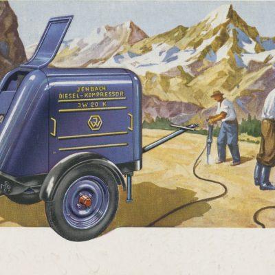 Alte Werbung vom Jenbacher Werk für den Diesel-Kompressor JW 20K.