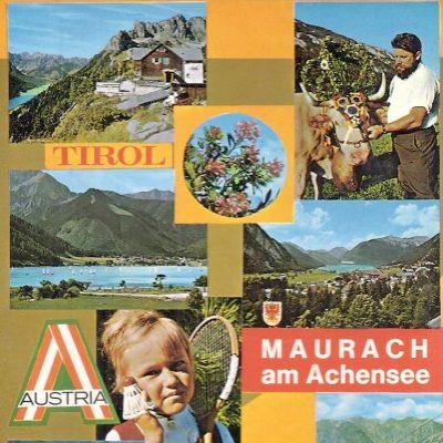 Touristenwerbung von Maurach in den 80er Jahren.