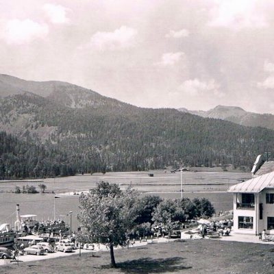 Das ehem. Hotel Scholastika am Achensee in den 60er Jahren.