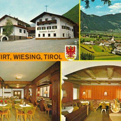Der Dorfwirt in Wiesing Ende der 80 Jahre.