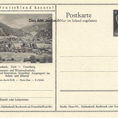 Jenbach als Teil von Deutschland. Ein Umstand, der im März 1938 nach dem Anschluss Österreichs an das Deutsche Reich Realität wurde.  Mit dem Titel