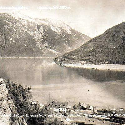 Seespitz am Achensee. Datum der Aufnahme ist leider nicht bekannt. Vermutlich in den 20er Jahren entstanden.