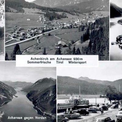 Das alte Achenkirch am Achensee. Bild stammt vermutlich aus den 60er Jahren.