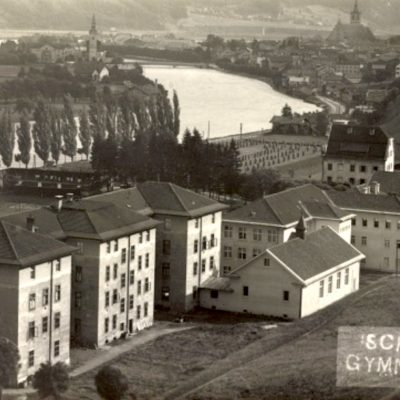 Das Bischöfliche Gymnasium Paulinum (Schwaz) im Jahr 1929.