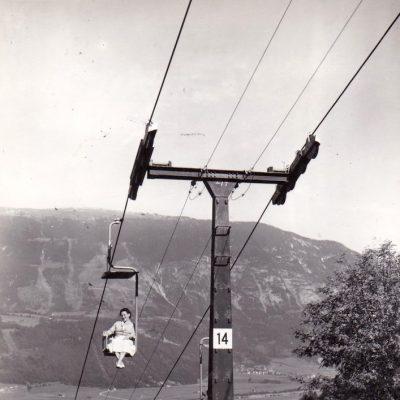 Der Kellerjoch-Lift im Jahr 1963.