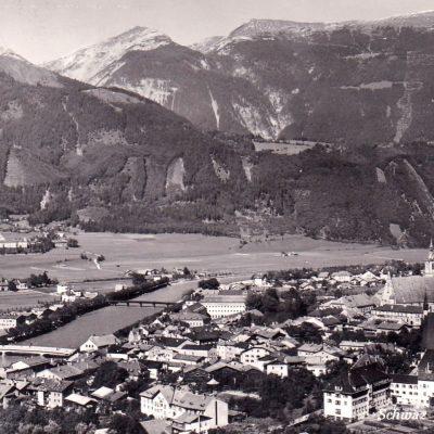 Schwaz im Jahr 1965 mit Blick auf das Stanserjoch.