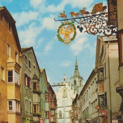 Die Altstadt von Schwaz in den 70er Jahren.