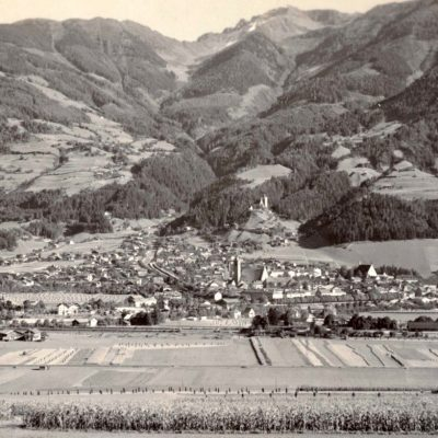 Ansicht auf Schwaz im Jahr 1950.