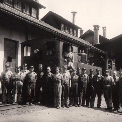Heizhaus Zillertalbahn 01.07.1936 - Das Foto stammt von Herrn Helmut Hammer.