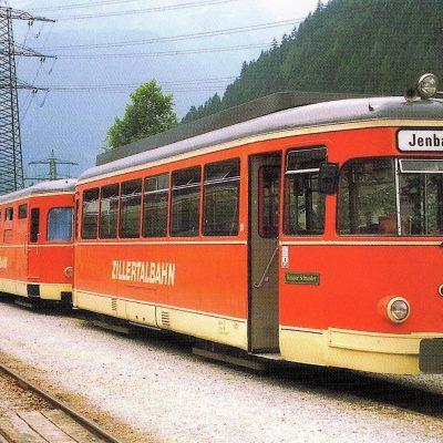Die alte Zillertalbahn im Jahr 1987. Natürlich in Fahrtrichtung Jenbach.