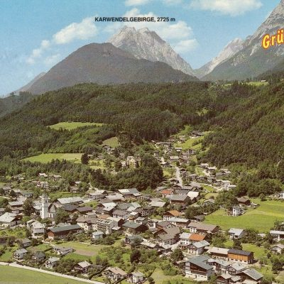 Blick auf Vomp im Jahr 1980.
