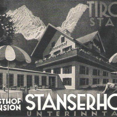 Alte Werbung vom Stanserhof, heute das Marschall.