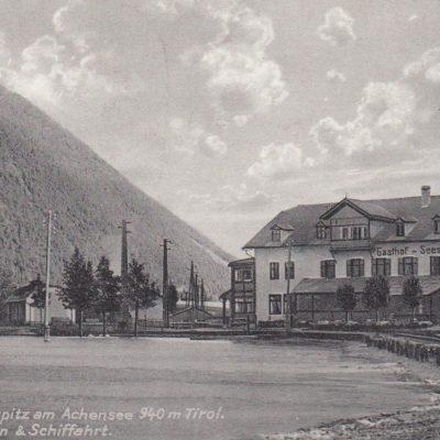 Gasthaus Seespitz in den 40er Jahren.
